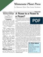 Winter 2010 Minnesota Plant Press ~ Minnesota Native Plant Society Newsletter