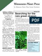 Spring 2010 Minnesota Plant Press ~ Minnesota Native Plant Society Newsletter