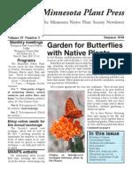 Summer 2010 Minnesota Plant Press ~ Minnesota Native Plant Society Newsletter