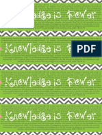 Knowledge is Power Bookmark