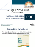 APICS Exam Committees