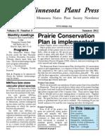 Summer 2012 Minnesota Plant Press ~ Minnesota Native Plant Society Newsletter