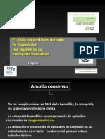 Valoracion radiológica aparato locomotor en paciente hemofilico. Dr. Aparisi. INFOHEMO 2012. 25.10.12