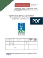 Especificaciones Tecnicas Pararrayos 115 Kv