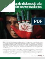 13 años de diplomacia a espalda de los venezolanos por Adriana Boersner