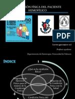 Condición física paciente hemofilico. D. Xavier Garcia. INFOHEMO 2012. 25.10.12