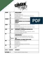 Programma Planning Gidsen 2009