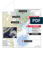 Sandy's projected path