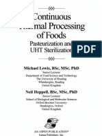 Continuous thermal processing of foods Pasteurization and UHT Sterilization