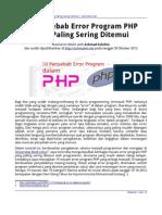 10 Penyebab Error Program PHP Yang Paling Sering Ditemui (Achmatim.net)