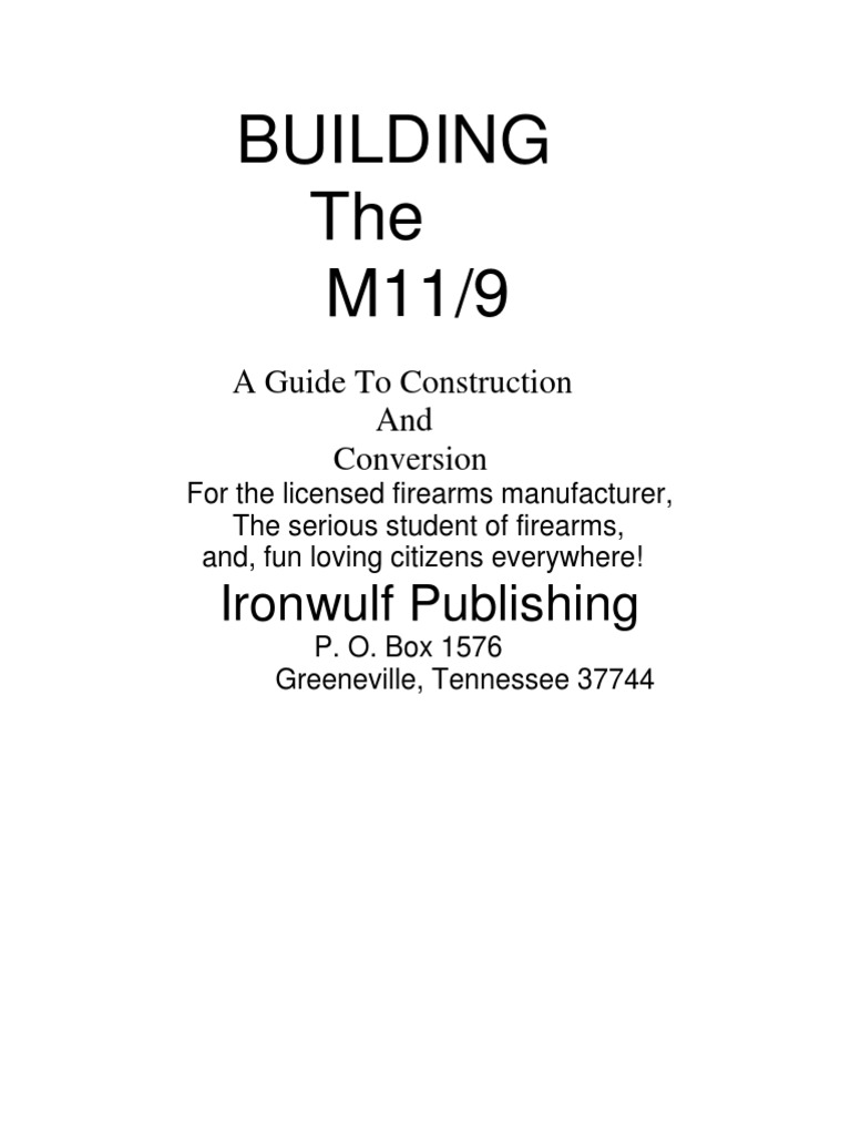 Mac11 9mm construction conversion sheet metal firearms malvernweather Choice Image