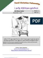 Wellington Tamil Christian Fellowship News Letter - November 2012