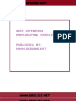 Ibps Interview Booklet