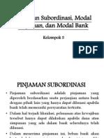 pinjaman subordinasi, modal