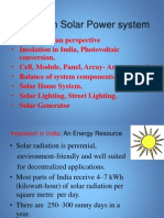 Primer of  Solar Electricity