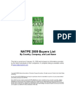NATPE 2009 Buyers by Country Company and Last Name