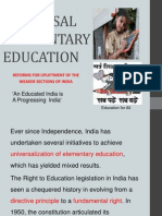Universal Elementary Education India