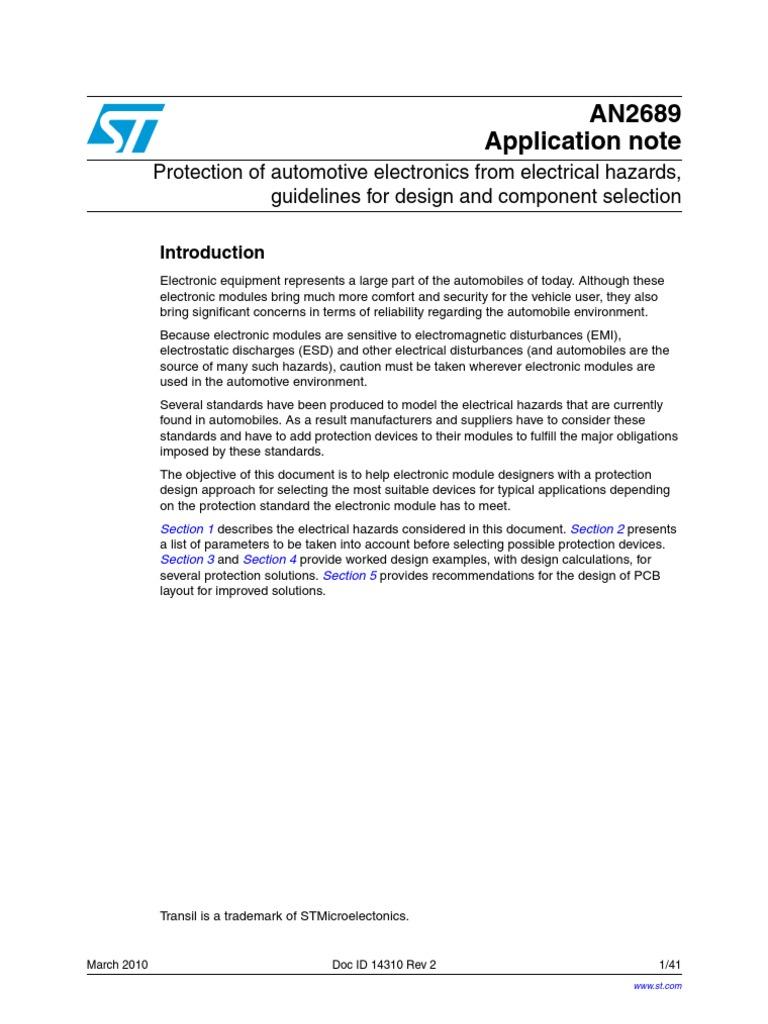 Circuit Schematic Car Ecu (1) | Electrostatic Discharge | Capacitor