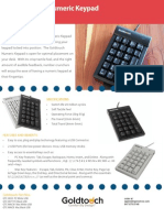 Goldtouch Data Sheet Numeric Key Pad