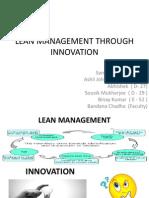 Lean Management Through Innovation