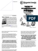 The Role of Culture in Economic Developement