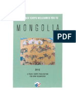 Peace Corps Mongolia Welcome Book  |  2012