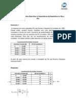 Exercícios Resolvidos - Capítulo 1 - Estatística Descritiva
