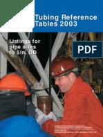 Tubing Tables Referencias