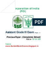 FCI Assistant Grade III Exam Previous Paper Free Download - Guide4BankExams
