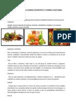 Diferencia Entre Comida Nutritiva y Comida Chatarra