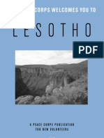 Peace Corps Lesotho Welcome Book  |  August  2011