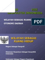 BAB VIII Geopolitik Indonesia Wawasan Nusantara