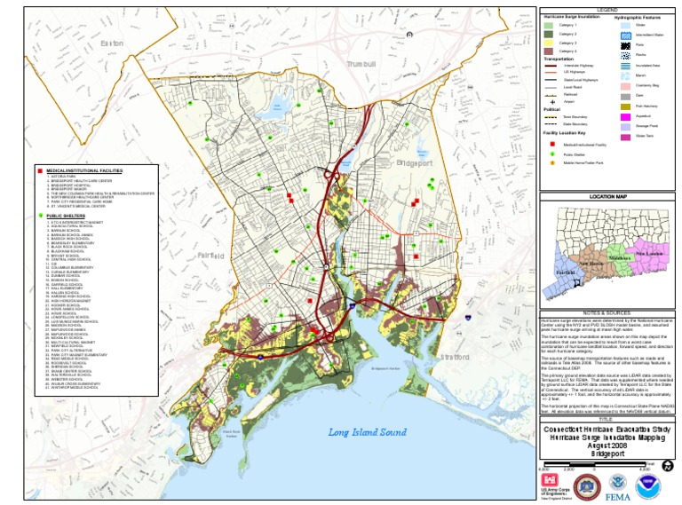 Bridgeport Flood Zone Map - Flood line map