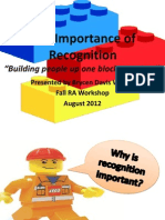 The Importance of Recognition Lego Presentation