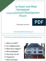 West Hampstead & Fortune Green Neighbourhood Development Forum presentation
