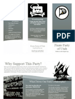 Pirate Party of Utah Trifold Flyer #1
