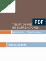 Tiempo de Mezclado en Biorreactores
