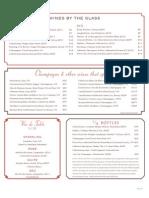 Restaurant Orsay Wine List - Jacksonville