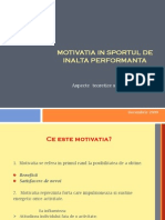 Motivatie in Sportul de Inalta Performanta