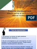 0 Predarea Interdisciplinaraobiectiv Central Al Curricumului National Modernizat