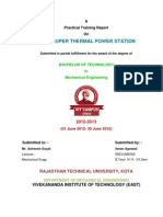 Kota Super Thermal Power Station Training Report