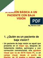 ATENCION BASICA A UN PACIENTE CON BAJA VISION.ppt