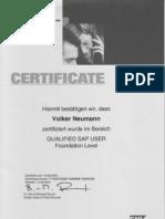 SAP Education,  Volker Neumann,  1 SAP Certification,  SAP Training Walldorf