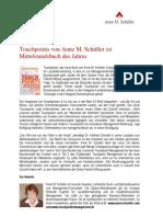 Touchpoints von Anne M. Schüller ist Mittelstandsbuch des Jahres
