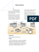 diseño de sist term fluid tipos de uniones