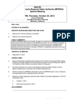 Mprwa Special Meeting Packet 10-25-12