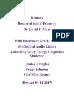Romans  in E-Prime With Interlinear Greek in IPA 10-28-2012
