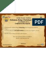 Certificado Cuarto de Beca