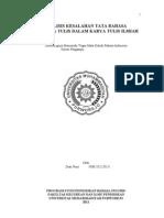 Analisis Kesalahan Tata Bahasa Dan Tata Tulis Dalam Karya Tulis Ilmiah