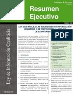 Res Ley de Informacion Crediticia